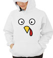 Eyes & Beak Turkey Hooded Sweatshirt