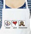 Peace Love Thanksgiving Apron