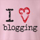 I Heart Love Blogging  Crew Neck Sweatshirt