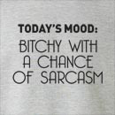 Today's Mood: Bitchy With A Chance Of Sarcasm Crew Neck Sweatshirt