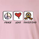 Peace Love Thanksgiving Long Sleeve T-Shirt