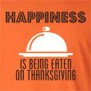 Happiness Is Being Eaten On Thanksgiving Long Sleeve T-Shirt