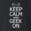 Keep Calm and Geek On Crew Neck Sweatshirt