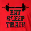 Eat Sleep Train Long Sleeve T-Shirt