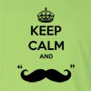 "Keep Calm And ""Mustache"" Long Sleeve T-Shirt"