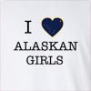 I Love Alaska Girl Long Sleeve T-Shirt