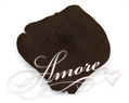 Truffle Dark Brown Silk Rose Petals Wedding 1000
