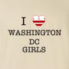 I Love Washington Dc Girls T-Shirt