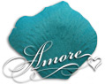 Tiffany Blue Turquoise Silk Rose Petals Wedding 2000