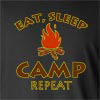 Eat Sleep Camp Repeat Long Sleeve T-Shirt