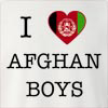 I Love Afghanisthan Boys Crew Neck Sweatshirt