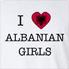 I Love Albania Girls Long Sleeve T-Shirt