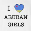 I Love Aruba Girls T-Shirt