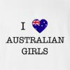 I Love Australia Girls T-Shirt