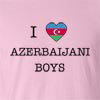 I Love Azerbaijan Boys T-Shirt