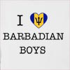 I Love Barbados Boys Hooded Sweatshirt