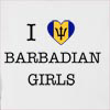 I Love Barbados Girls Hooded Sweatshirt
