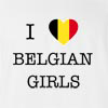 I Love Belgium Girls T-Shirt