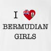 I Love Bermuda Girls T-Shirt