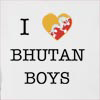 I Love Bhutan Boys Hooded Sweatshirt