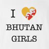 I Love Bhutan Girls T-Shirt