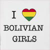 I Love Bolivia Girls Hooded Sweatshirt