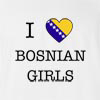 I Love Bosnia And Herzegovina Girls T-Shirt