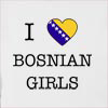 I Love Bosnia And Herzegovina Girls Hooded Sweatshirt