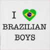 I Love Brazil Boys Hooded Sweatshirt