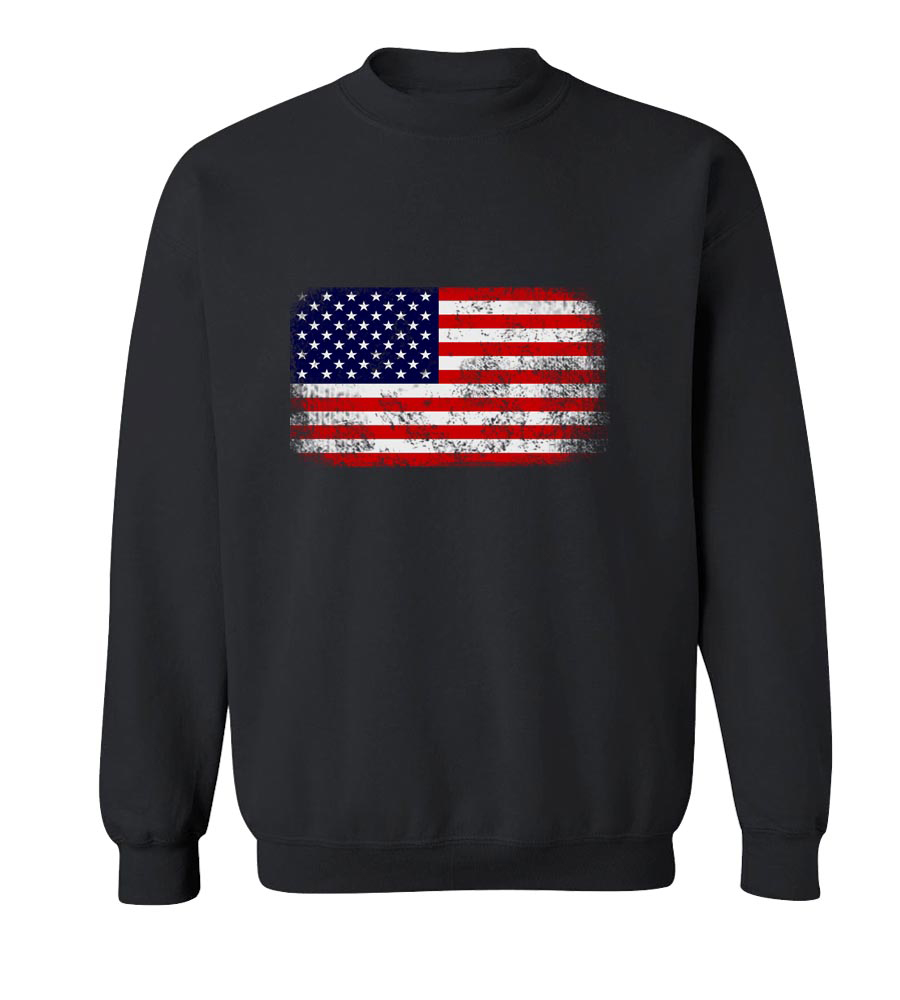 American Flag Horizontal Neck Sweatshirt