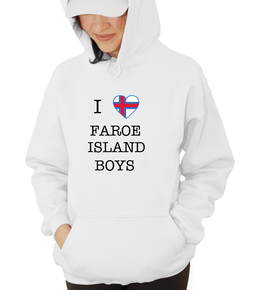 I Love Faroe Island Boys Hooded Sweatshirt