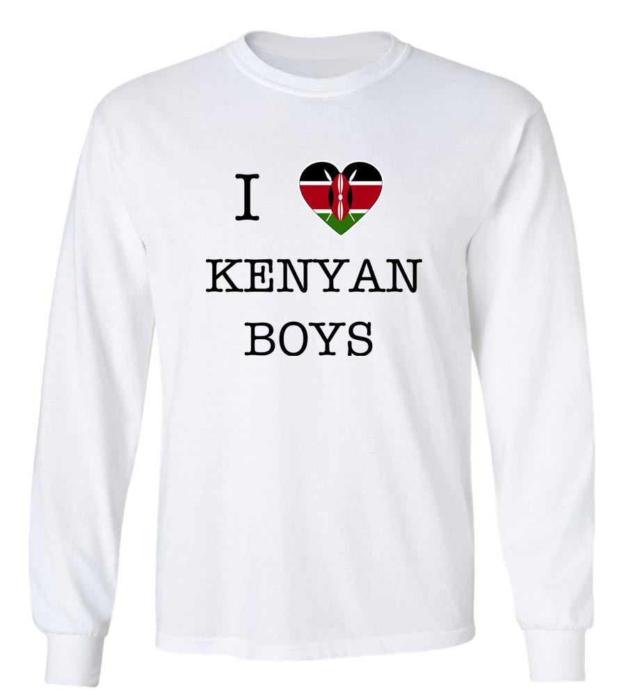 I Love Kenya Boys  Long Sleeve T-Shirt