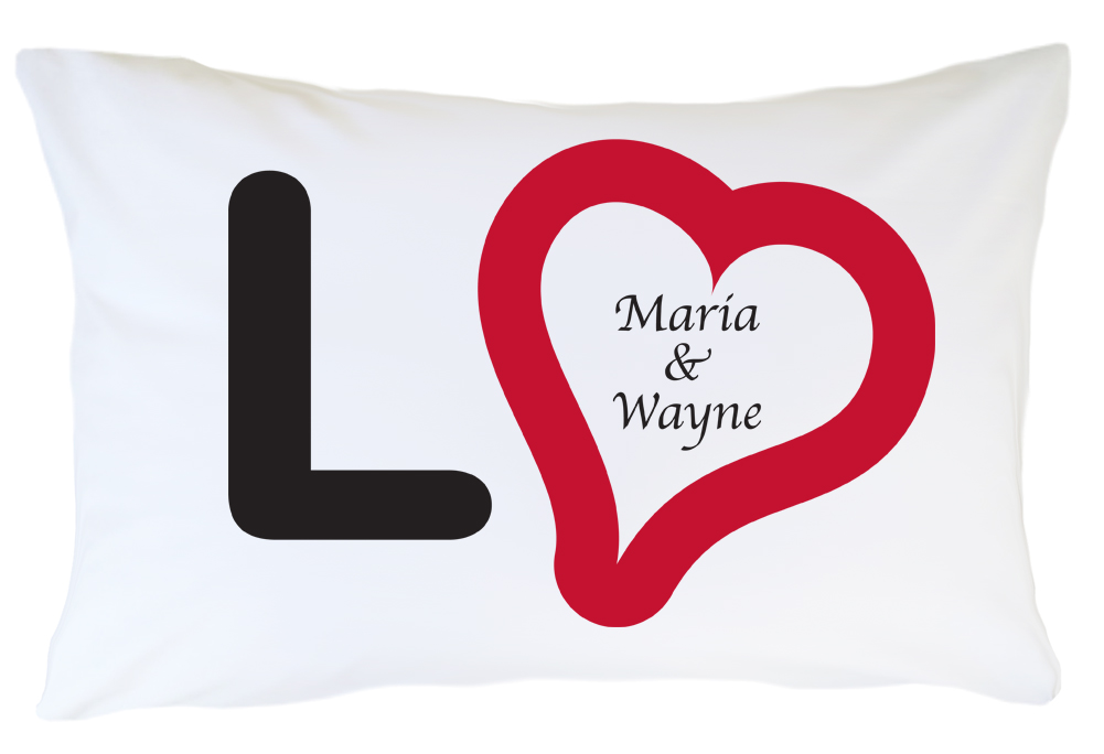 Personalized Pillow Case Set - Love
