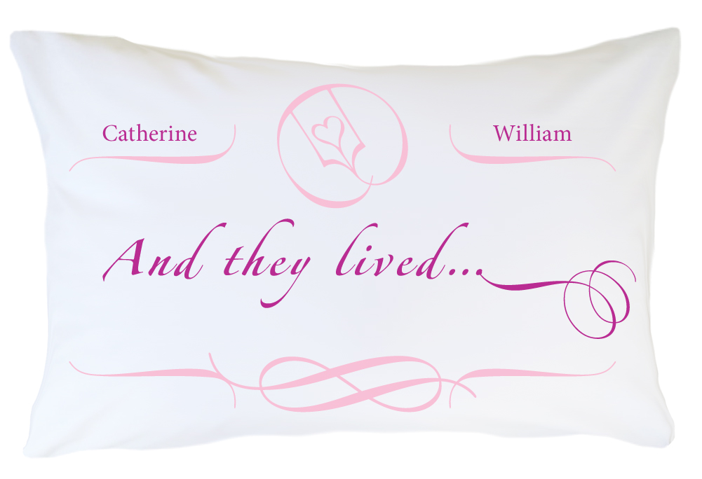 Personalized Pillow case Set Happily Ever After