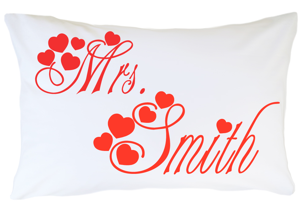 Personalized Pillow Case Set - Mr. and Mrs.
