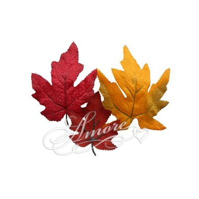 Silk Fall Leaves with Stem 50