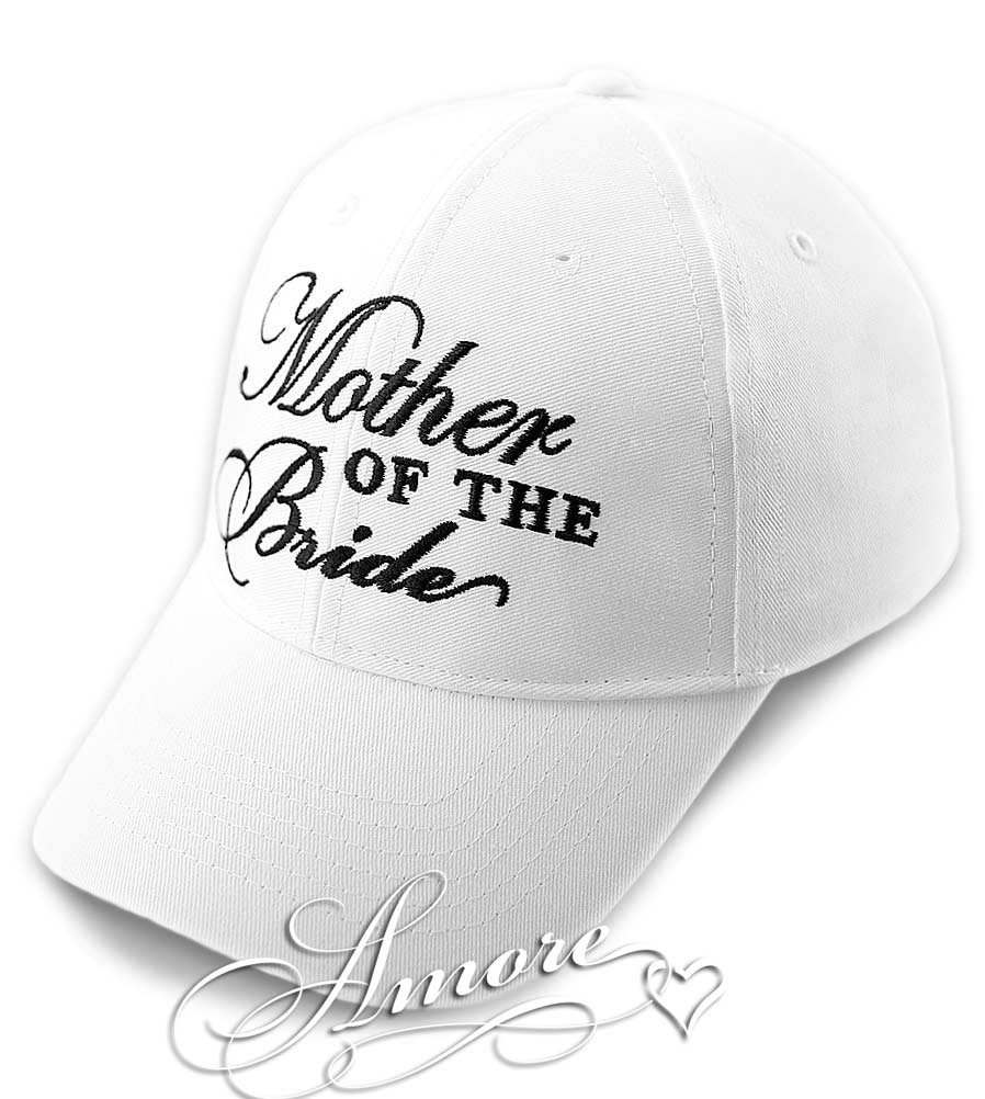 Mother of the Bride Wedding White Baseball Cap