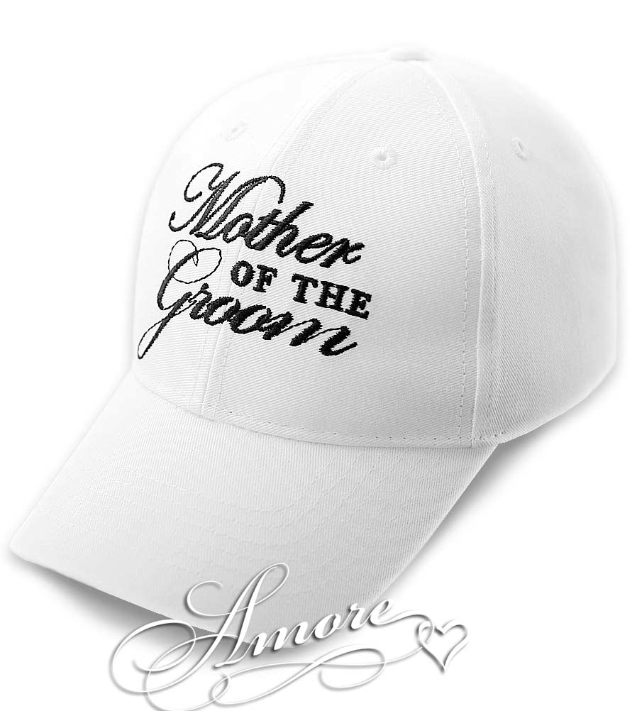 Mother of the Groom Wedding Baseball Cap White Hat