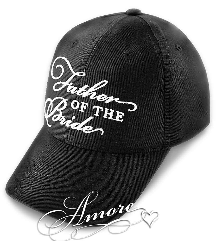 Father of the Bride Wedding Baseball Cap  Black Hat