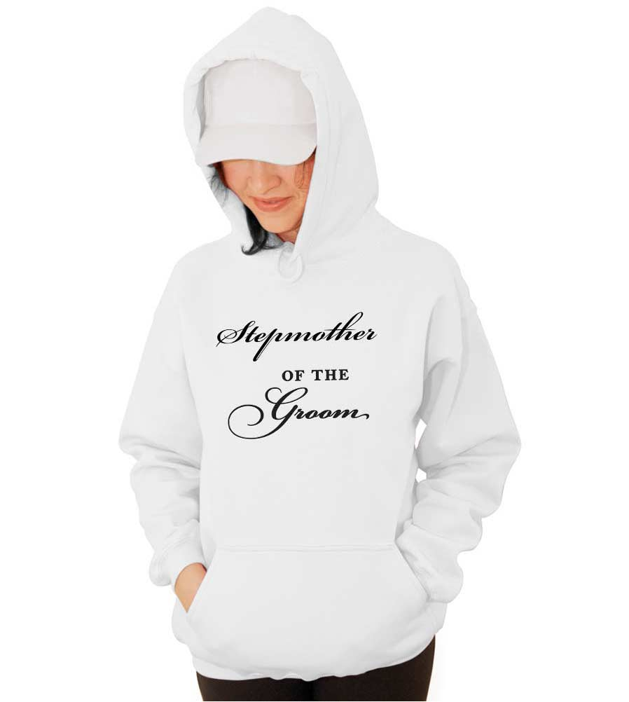 Stepmother of the Groom Wedding Hooded Sweathshirt