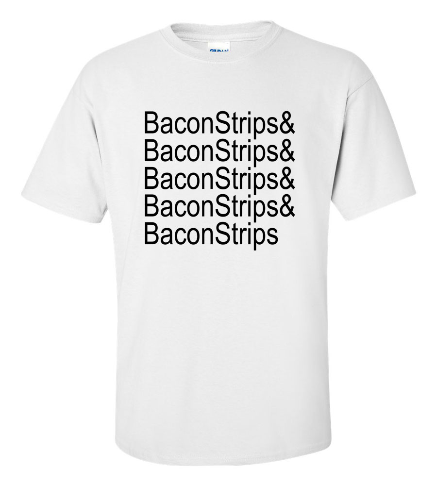 Bacon Strips Funny T Shirt