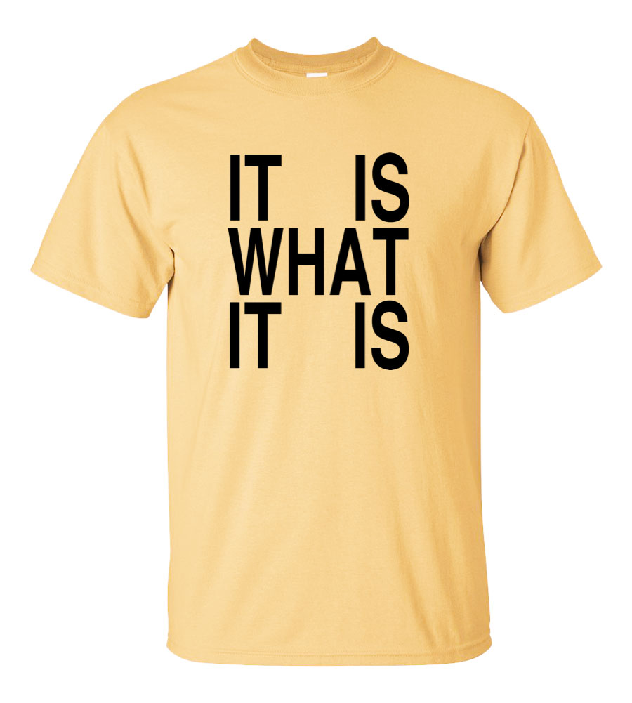 It Is What It Is Funny T Shirt