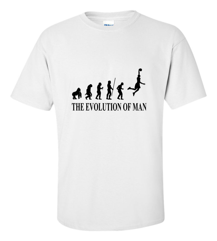 The Evolution of Man Basketball NBA T Shirt