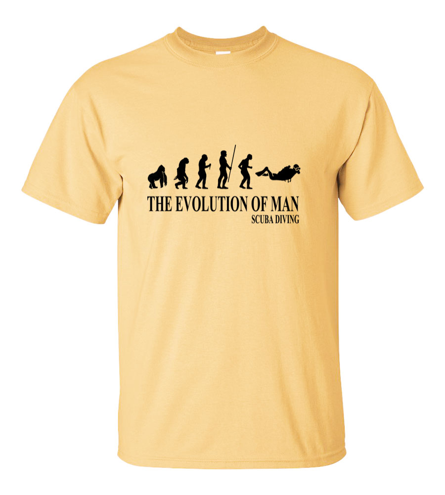 The Evolution of Man Scuba Diving T Shirt