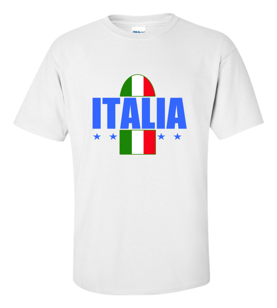 Italy Italia Soccer World Cup Jersey T Shirt