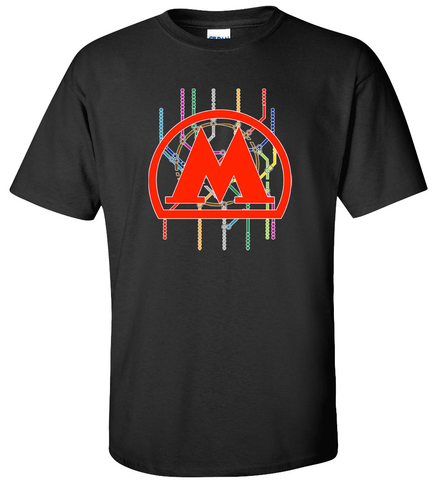 Moscow Metro Russian Subway T Shirt