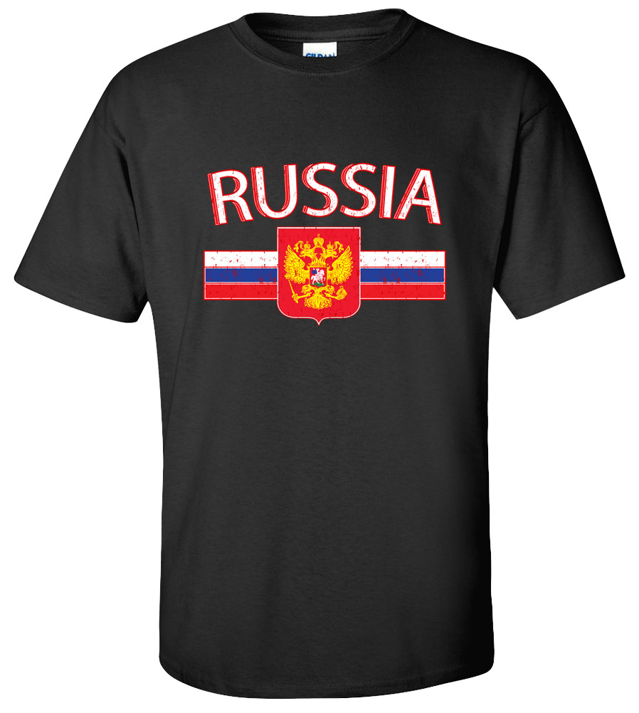 Russia Crest Soccer Football Club T Shirt
