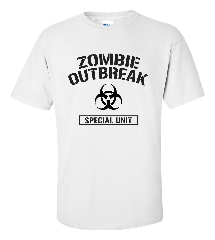 Zombie Outbreak Special Unit Funny T Shirt
