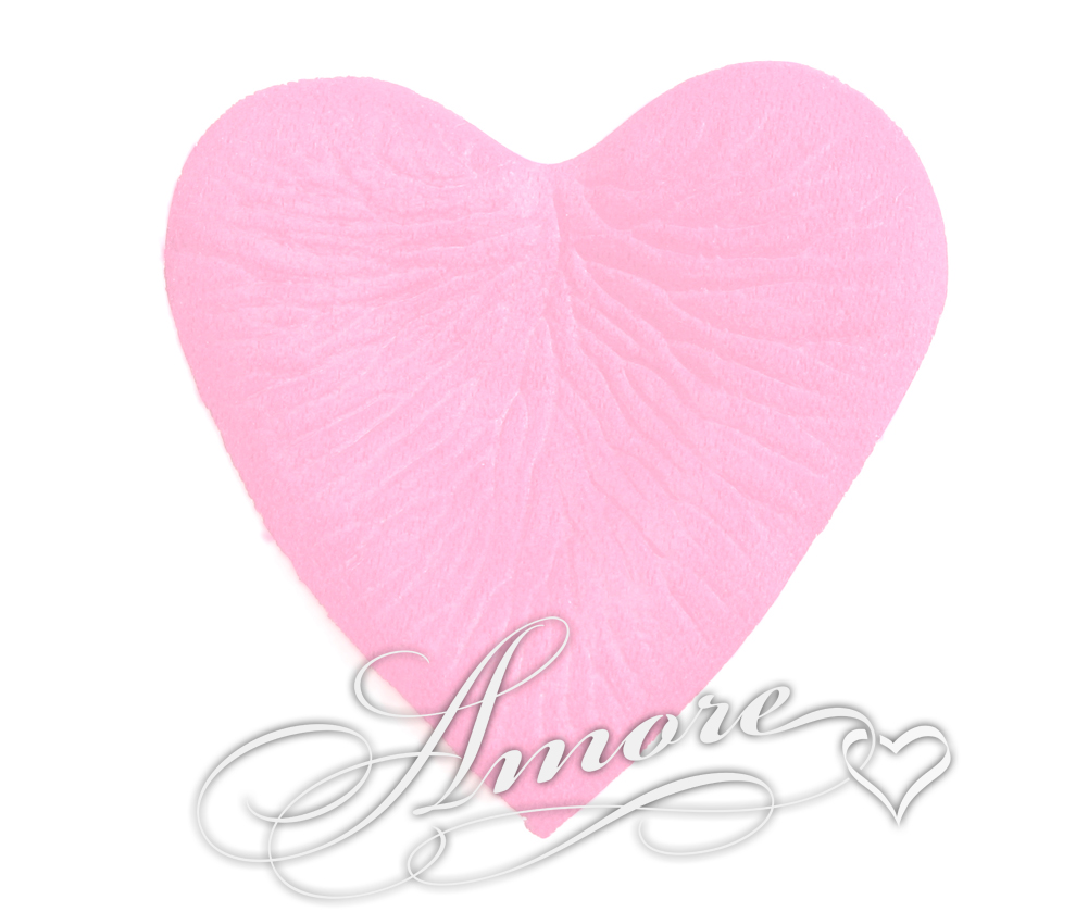 Pink Silk Rose Petals Wedding Heart Shaped Bulk 10000
