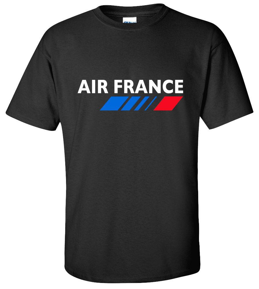 Air France Airlines Retro T-shirt New Boeing Airbus Tee